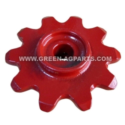 176278C1 Case-IH cornheader upper drive chain gathering sprocket with roll pin hole