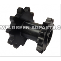 AH101340 Drive Sprocket, 11 tooth and 12 tooth, ,spline bore. For John Deere bean head model 50A Ser