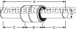 885118B P6310 421855M1 Glencoe MF double solid stem gauge wheel bearing