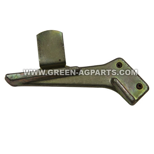 A61577 GB0241 John Deere metal 1700 series seed guard with curved bracket