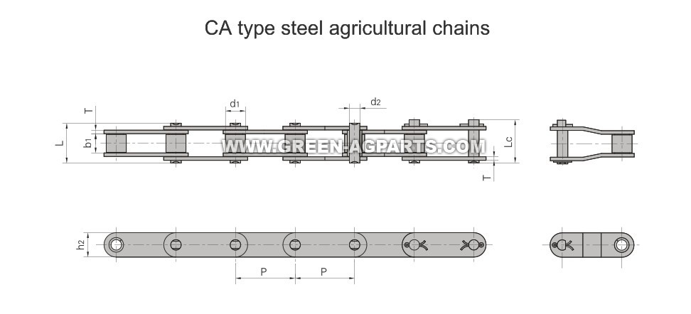 CA type steel AG chains